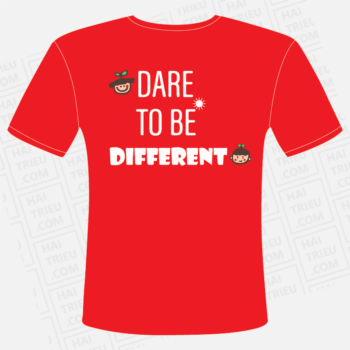 ao dong phuc lop ni k24 dare to be different mat sau