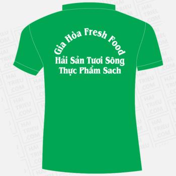 ao nhan vien gia hoa fresh food hai san tuoi song thuc pham sach