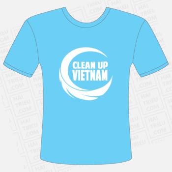 dong phuc clean up viet nam mat truoc