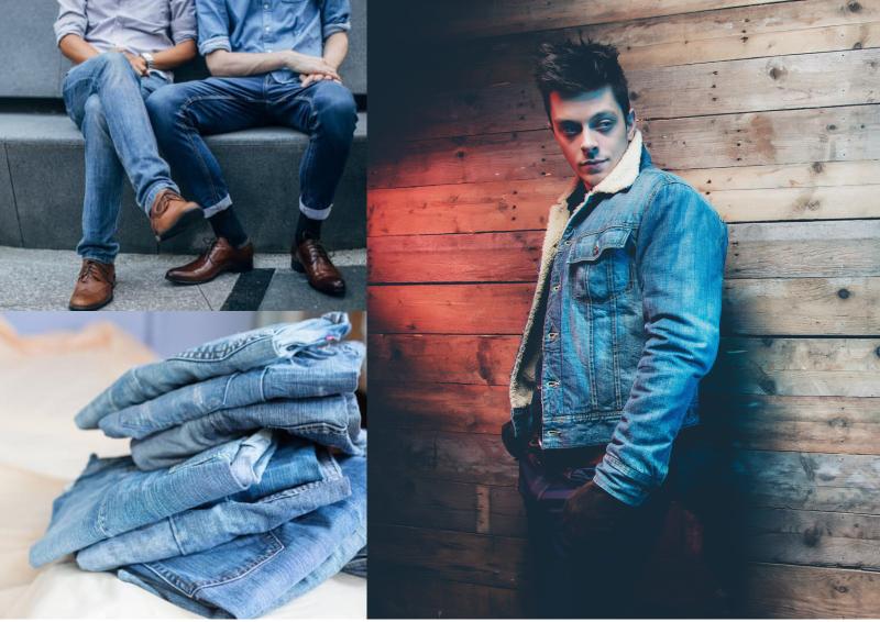 Ung dung vai jeans trong may mac