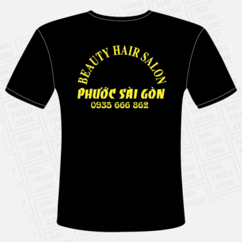 ao thun nhan vien beauty hair salon phuoc sai gon tien giang