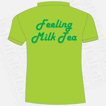 ao thun nhan vien quan feeling milk tea binh duong