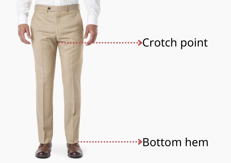 Crotch point va bottom hem