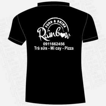 ao thun nhan vien rain bow food & drink da huoai lam dong
