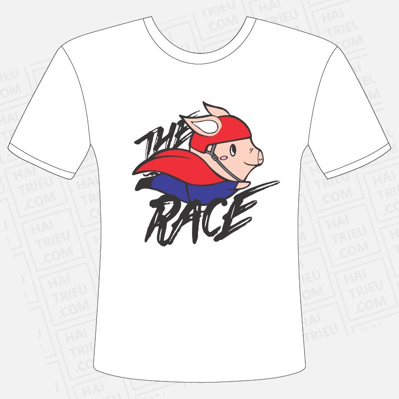 ao thun the pig race mat truoc