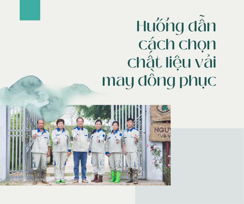 huong dan cach chon chat lieu vai may dong phuc