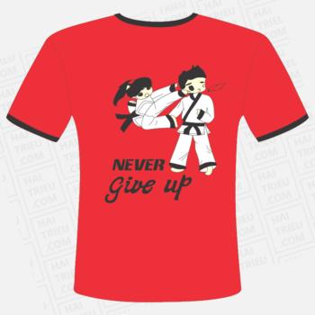 ao thun karate team never give up