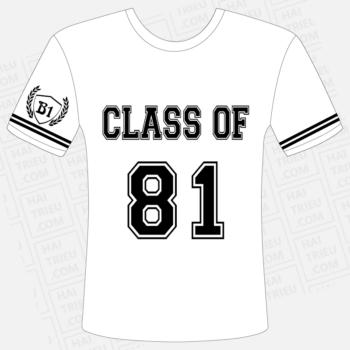 ao thun lop b1 class of 81
