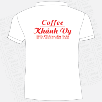 ao thun nhan vien khanh vy coffee