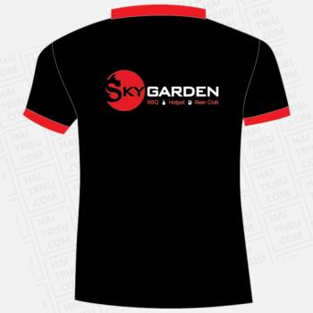 ao thun nhan vien nha hang sky garden