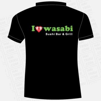 ao thun wasabi sushi bar & grill