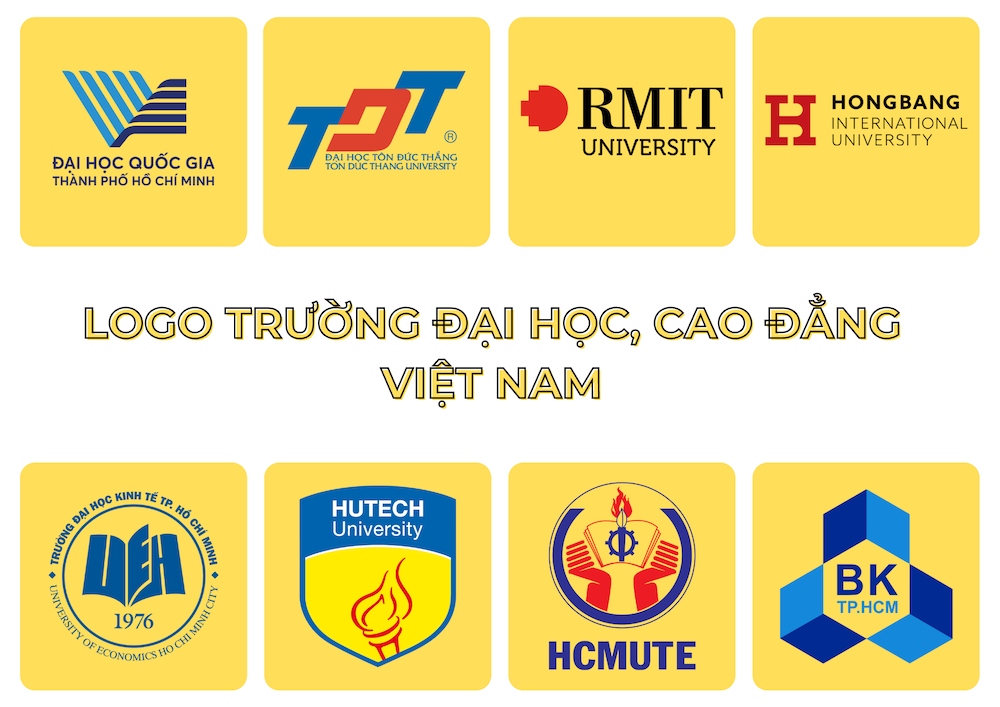 tong hop logo truong dai hoc cao dang vietnam